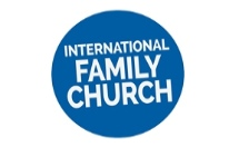 International Family Church on blue background
