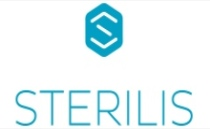 Sterilis logo as Large S on blue background